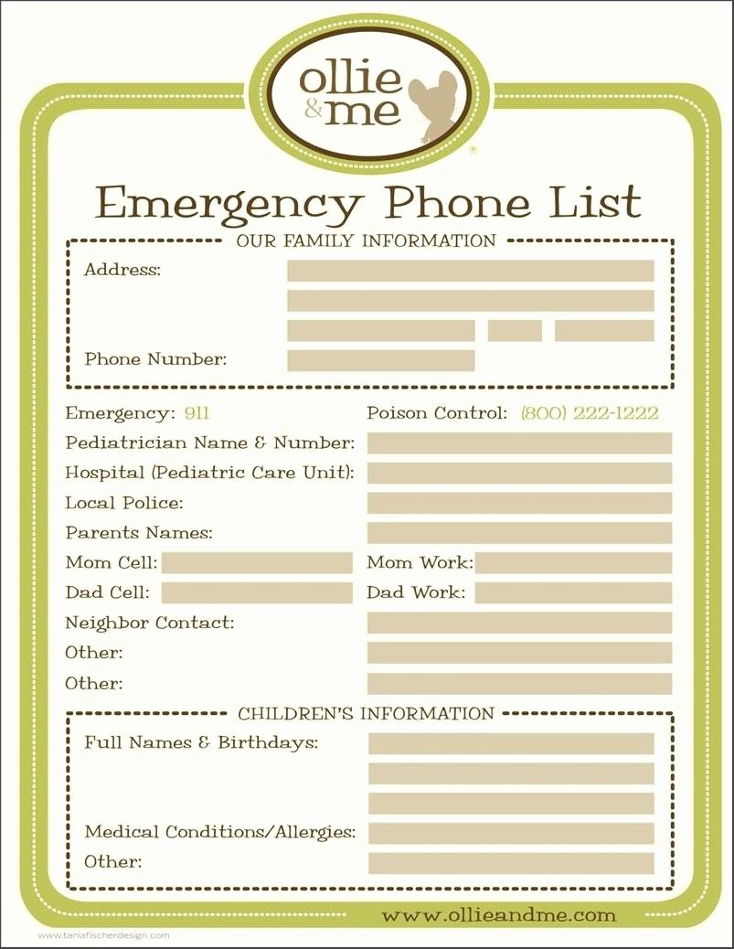 Address and Phone Number Template Best Of Emergency Phone Numbers Template Pin Emergency Contact