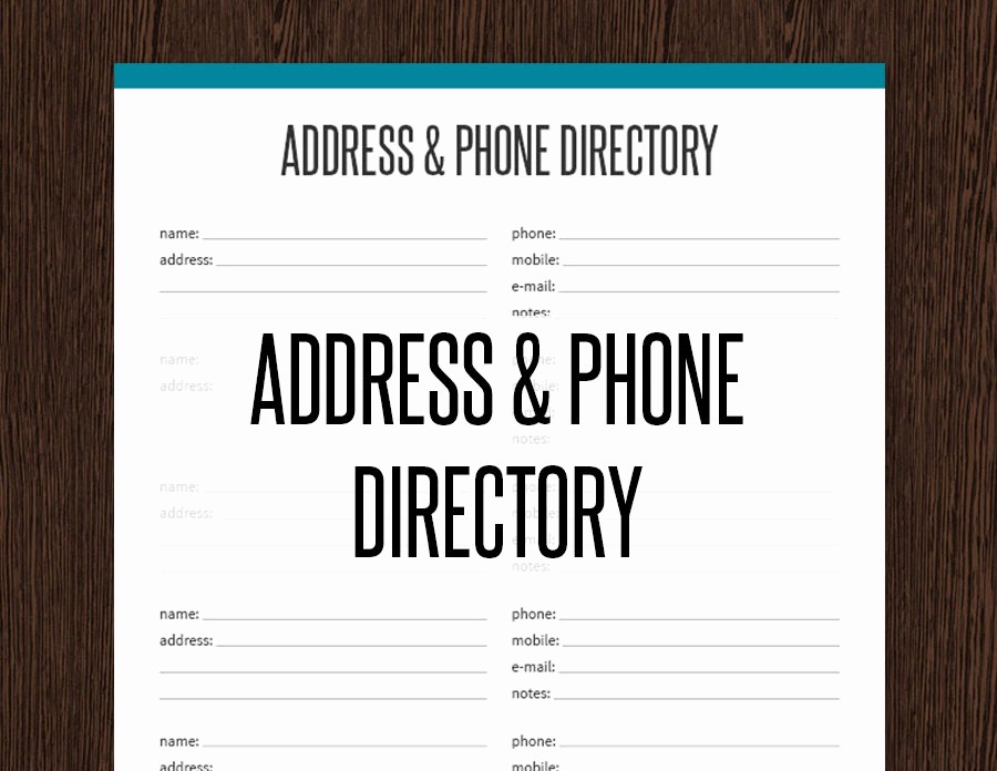 Address Book Online Free Download Elegant 26 Of Phone Book to Print Template