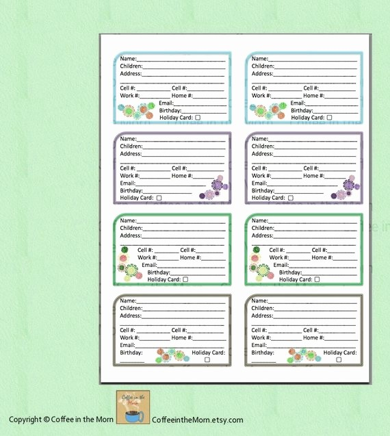 Address Book Online Free Download Lovely Address Book Contact List Pdf Printable Digital Download