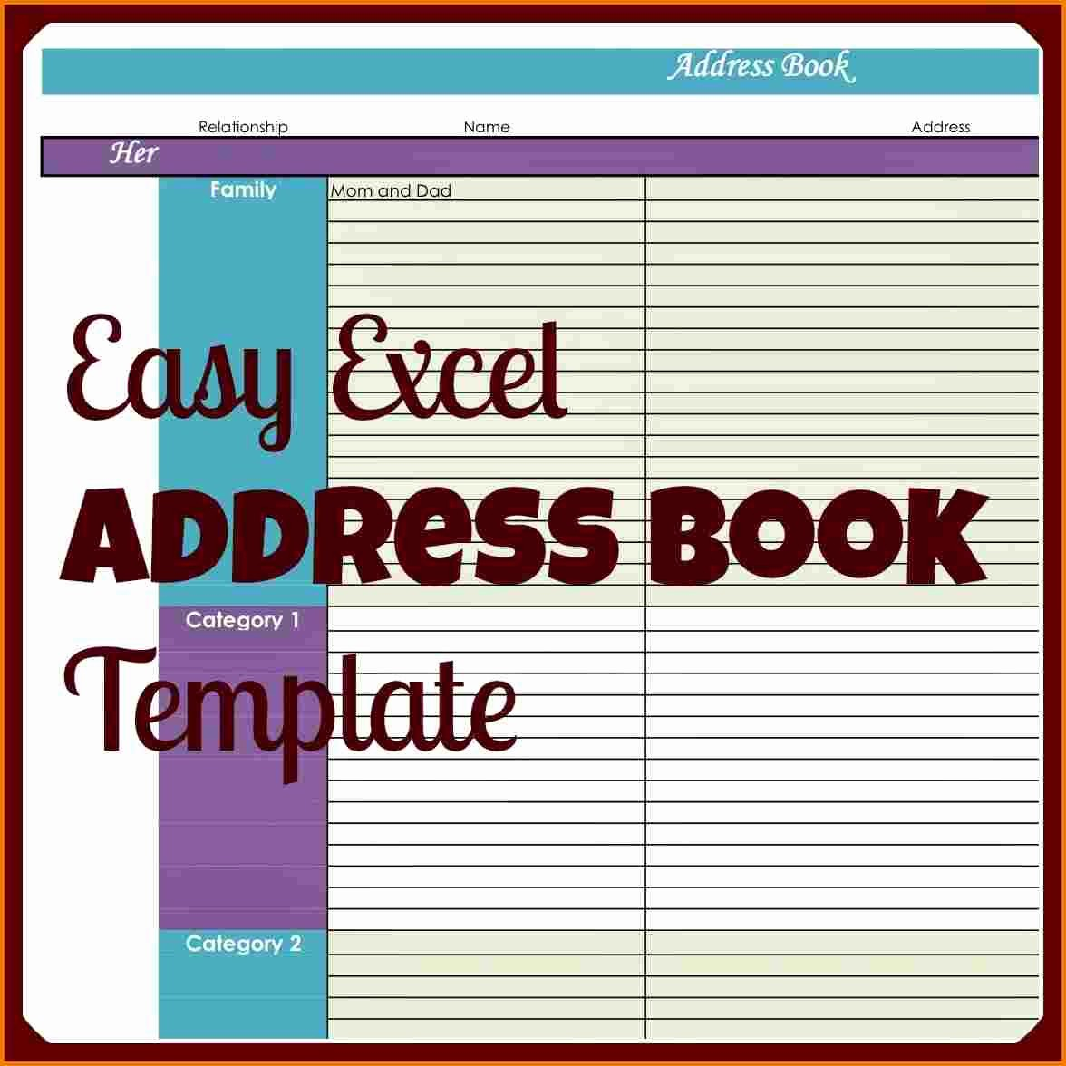 Address Book Online Free Download Unique Free Address Book Template