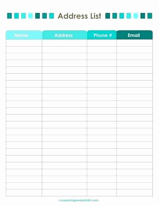 Address Book Template Google Docs New Christmas Card List Template List Template Card Word