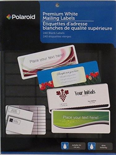 polaroid premium white mailing labels contains 240 B01F484A9E