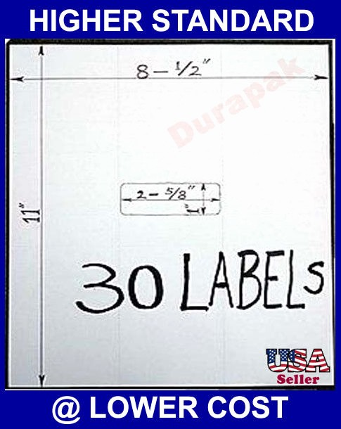 "Address Labels 30 Per Page Inspirational Blank Plain Address Label 2 5 8x1"" 30 Per Page"