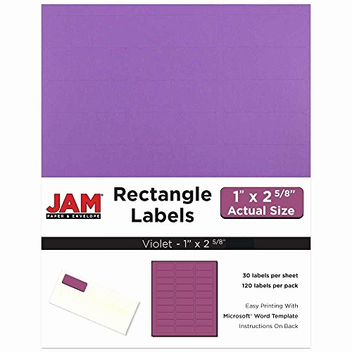"Address Labels 30 Per Page Inspirational Jam Paper Mailing Address Labels Small 1"" X 2 5 8"