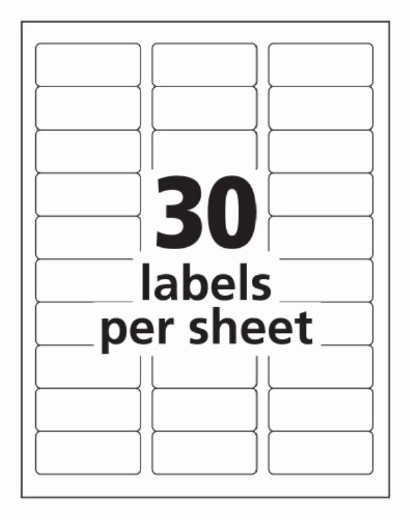Address Labels 30 Per Page Lovely Label Templates 30 Per Sheet Invitation Template