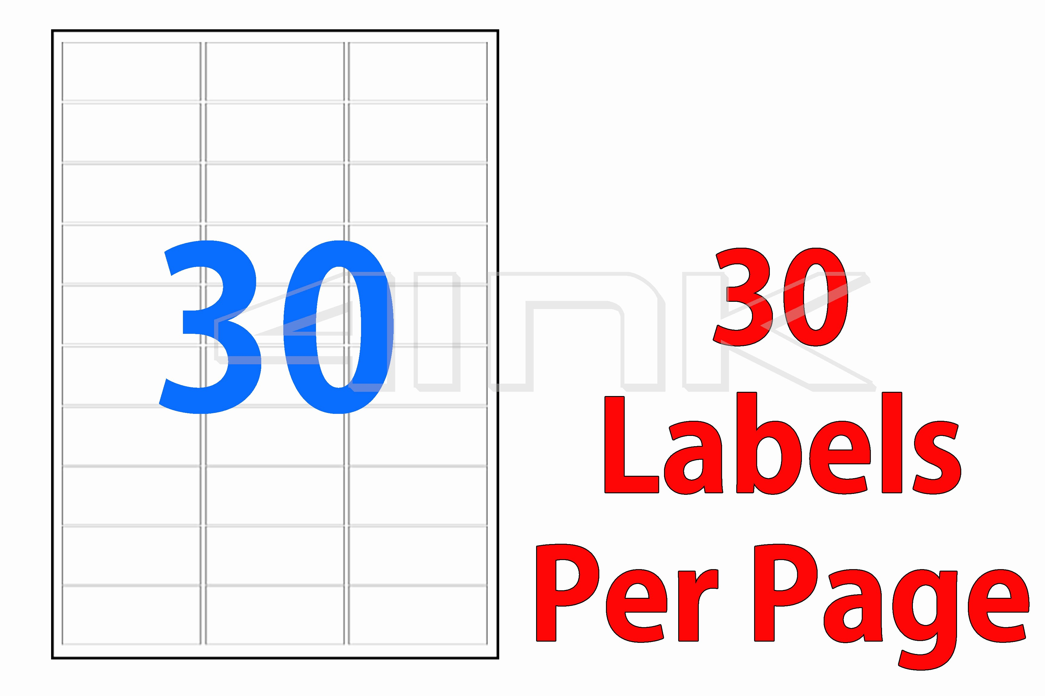 Address Labels 30 Per Page Unique 1000 Sheets 30 Labels Per Page Labels 64x26 7mm A4
