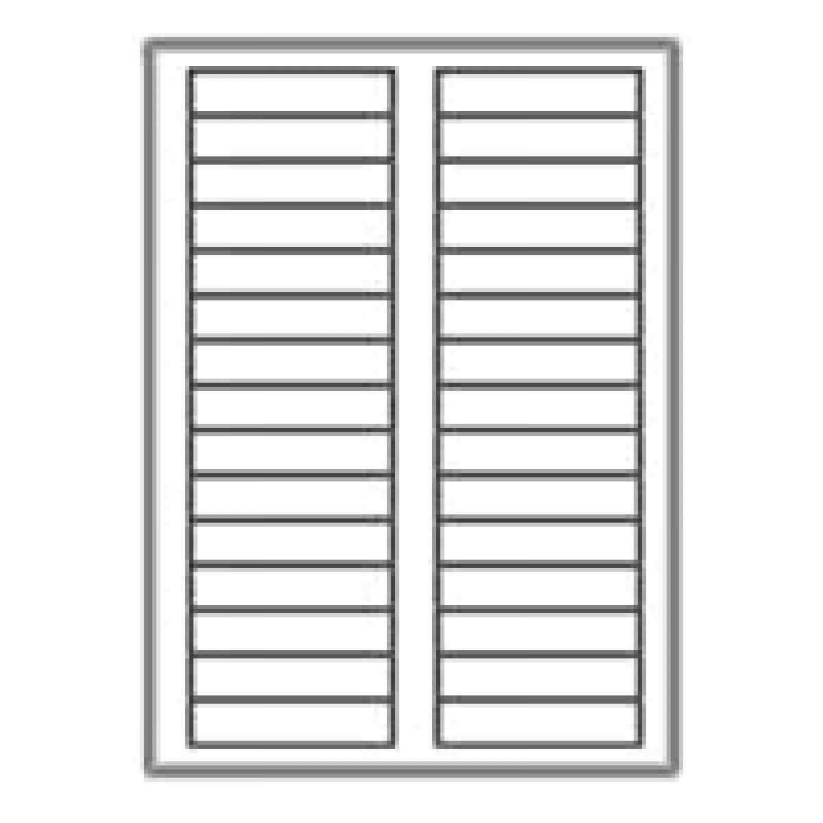 "Address Labels 30 Per Page Unique 3000 Neato Filing Labels 30 Per Sheet 2 3"" X 3 7 16"
