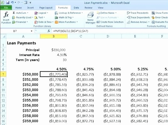 Adjustable Rate Mortgage Calculator Excel Fresh Variable Rate Mortgage Calculator Excel Excel Spreadsheet