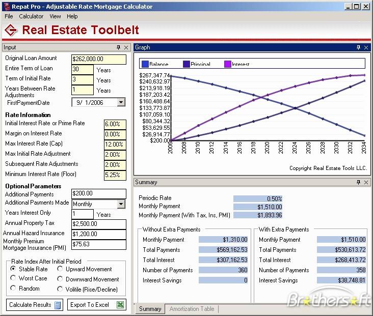 Adjustable Rate Mortgage Calculator Excel Luxury Download Free Desktop Mortgage Calculator Desktop