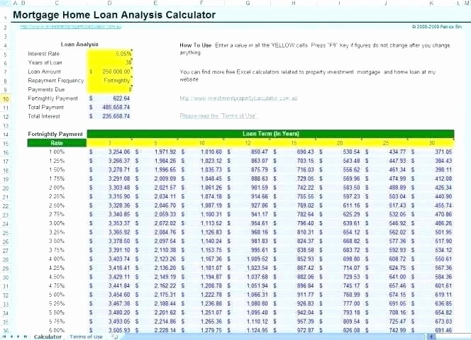 Adjustable Rate Mortgage Calculator Excel Luxury Variable Rate Mortgage Calculator Excel Excel Spreadsheet
