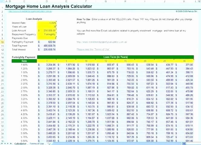 Adjustable Rate Mortgage Calculator Excel Luxury Variable Rate Mortgage Calculator Excel Excel Spreadsheet