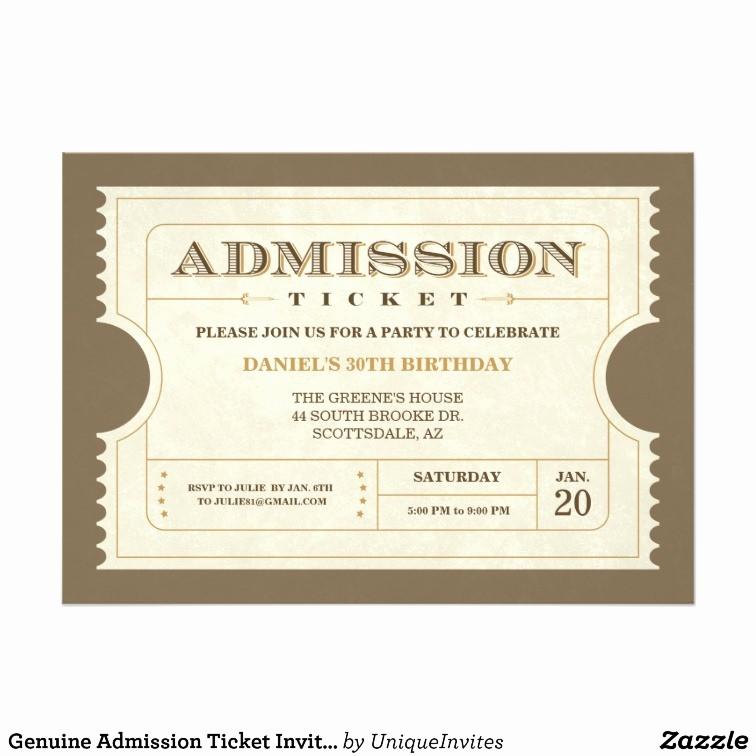 Admission Ticket Invitation Template Free Beautiful Admission Ticket Template
