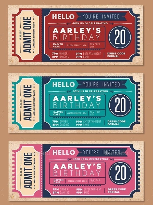 Admission Ticket Invitation Template Free Best Of 46 Print Ready Ticket Templates Psd for Various Types Of
