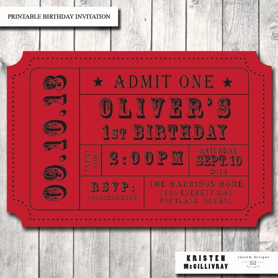 Admission Ticket Invitation Template Free Best Of Carnival Ticket Invitation Ticket Stub Editable