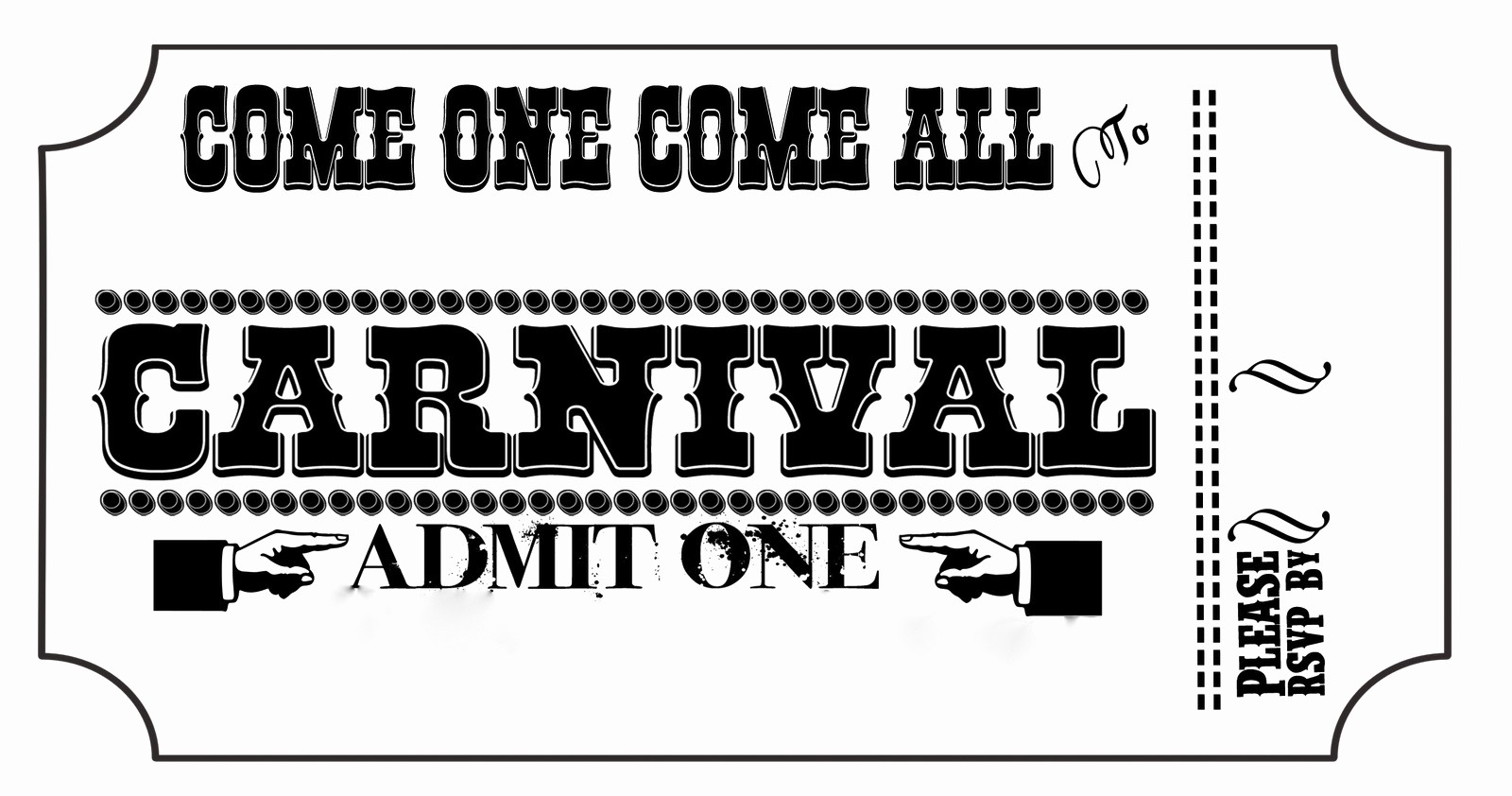 Admission Ticket Invitation Template Free Best Of Carnival Tickets Templates Free Printable