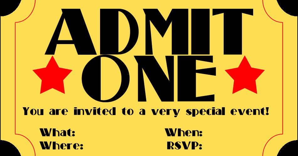 Admission Ticket Invitation Template Free Best Of Free Printable Invitation Movie Ticket Stub