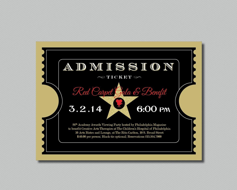 Admission Ticket Invitation Template Free Fresh Beautiful Admission Ticket Template Design for Red Carpet