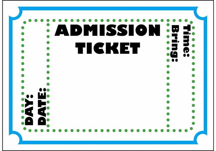 Admission Ticket Invitation Template Free Fresh Circus Ticket Template