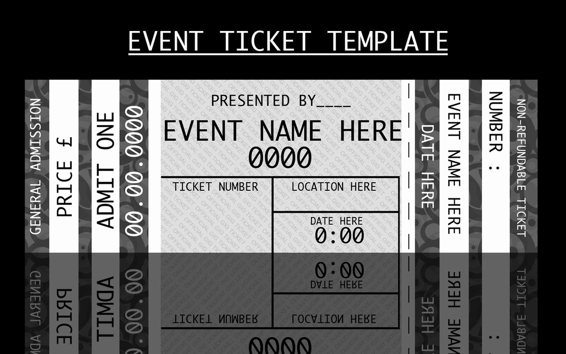 Admission Ticket Invitation Template Free Inspirational Concert Ticket Templates Free