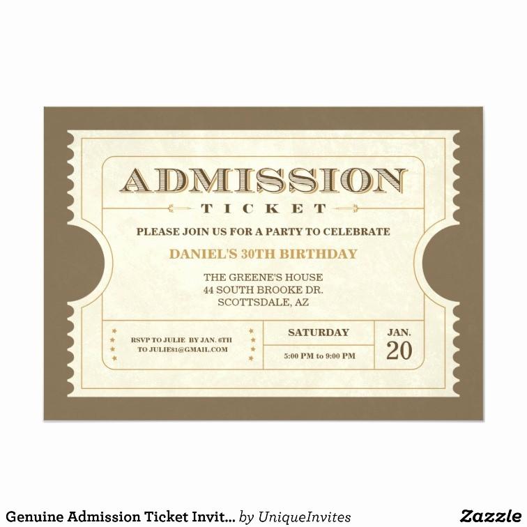 Admission Ticket Invitation Template Free Luxury Blank Admission Ticket Template