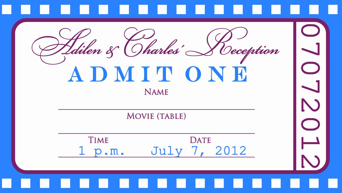 Admission Ticket Invitation Template Free Luxury Free event Ticket Template Fiveoutsiders