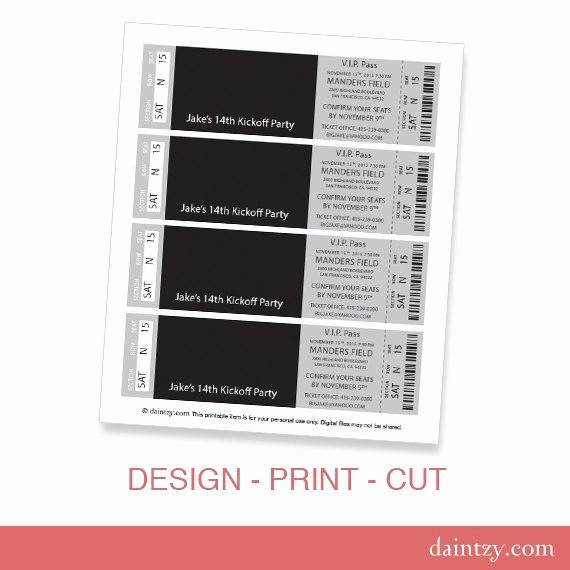 Admission Ticket Invitation Template Free Unique event Ticket Invitation Template Printable Diy Make
