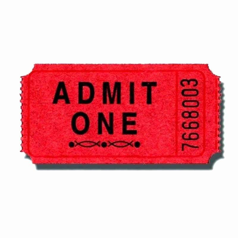 Admit One Movie Ticket Template Awesome Admit 1 Ticket Template E White Sparkle Business