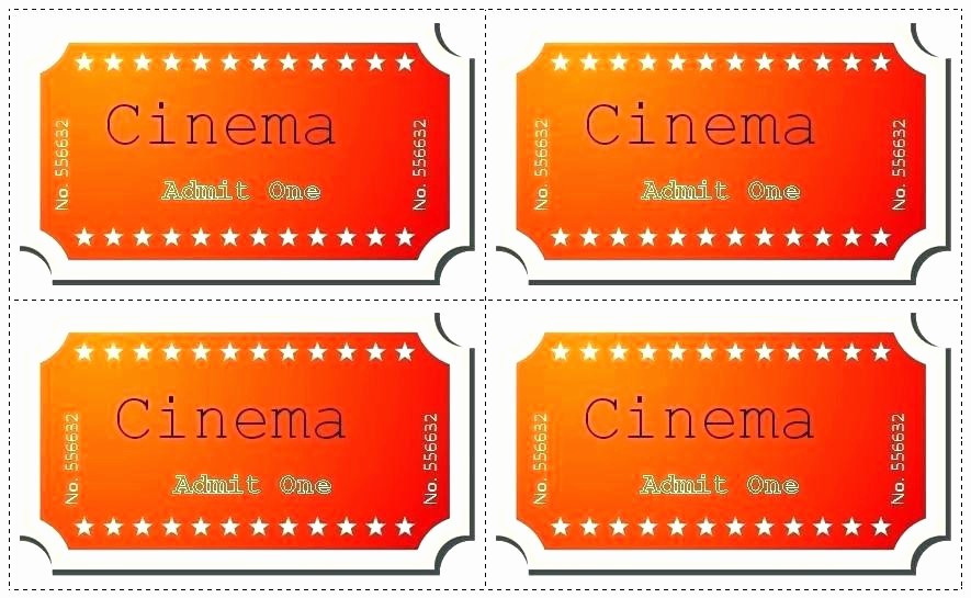 Admit One Movie Ticket Template Awesome Blank Admit E Ticket Template Download Coffee In Excel