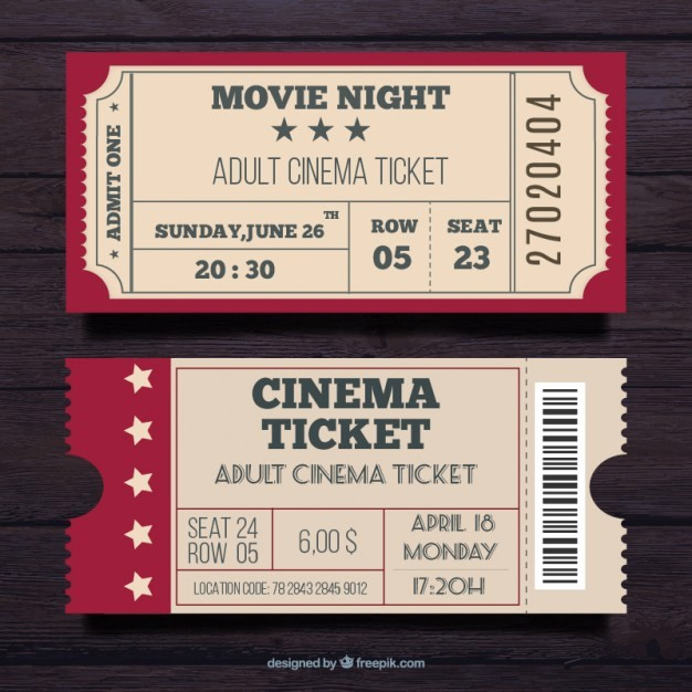 Admit One Movie Ticket Template Elegant Admit E Ticket Vectors S and Psd Files