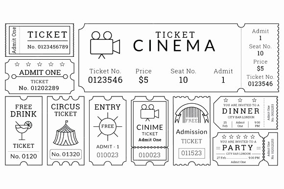 movie ticket templates free word formats inside template admit one illustrator