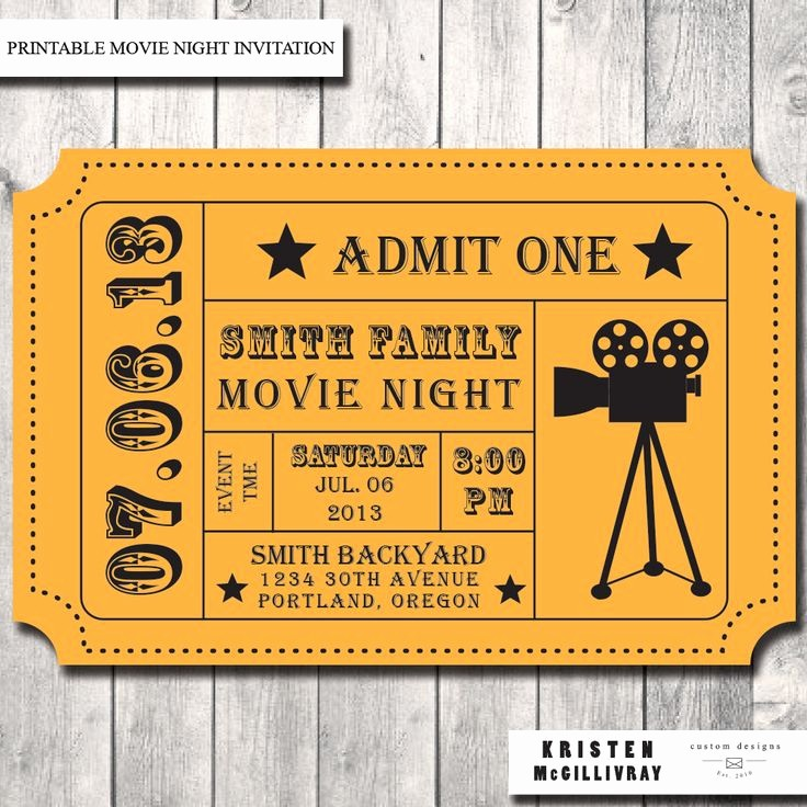 Admit One Movie Ticket Template Fresh Best 25 Movie Ticket Template Ideas On Pinterest