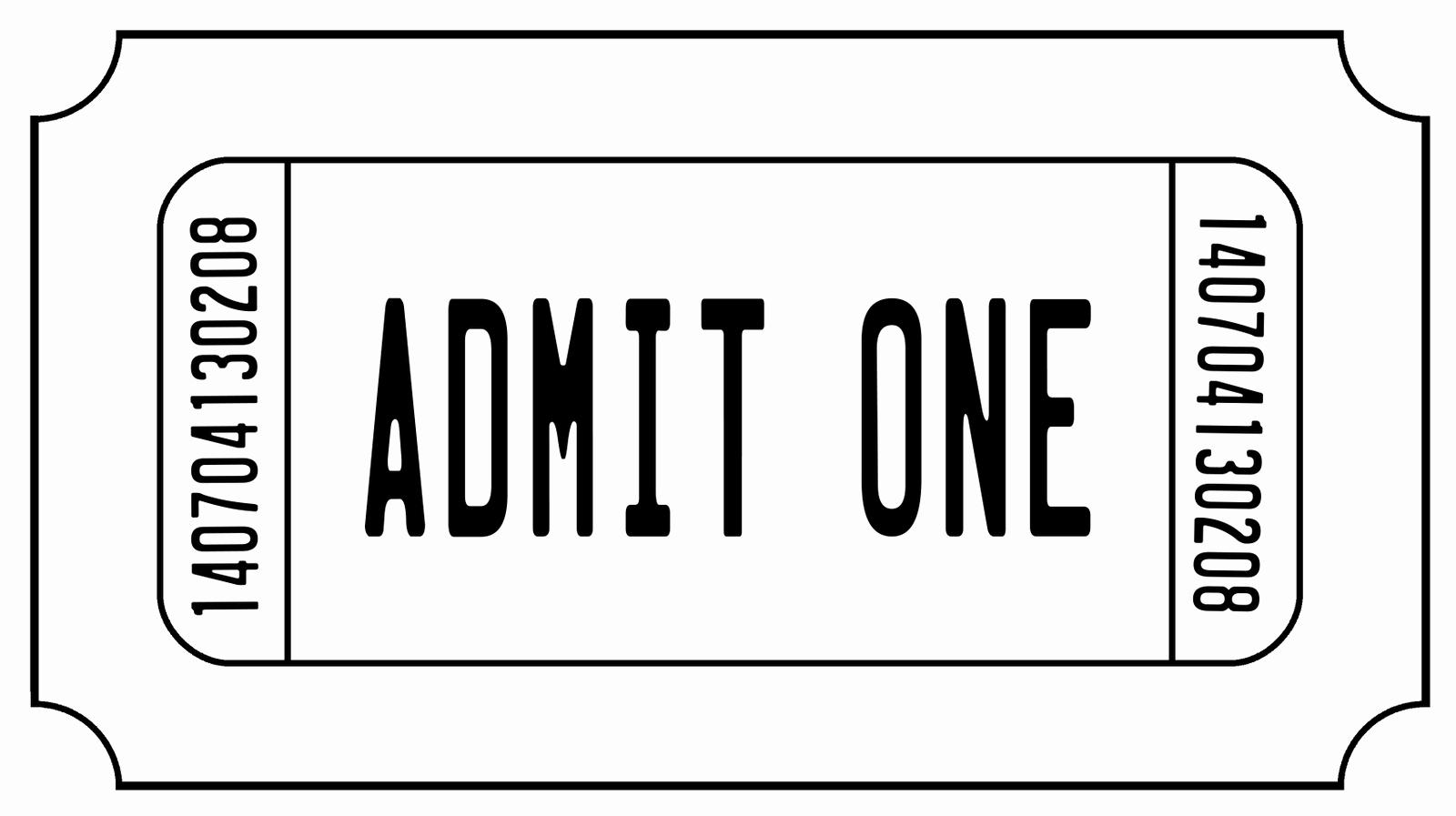 Admit One Movie Ticket Template Inspirational Admit One Ticket Digi Stamp Digital Stamps