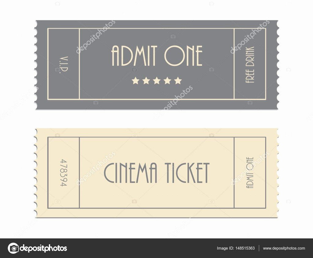 Admit One Movie Ticket Template Inspirational Special Vector Ticket Template Admit One Cinema Ticket