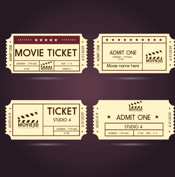 Admit One Movie Ticket Template Inspirational Ticket Free Vector 159 Free Vector for