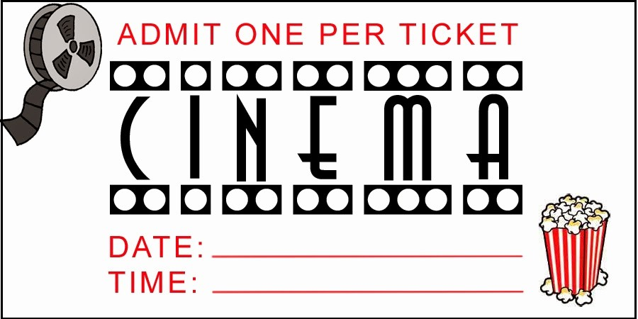 Admit One Movie Ticket Template Lovely Admit E Movie Ticket Template Free Clipart