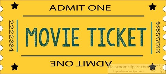 Admit One Movie Ticket Template Lovely Movie theater Ticket Clip Art – Cliparts