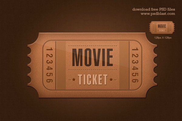 Admit One Movie Ticket Template Lovely Ticket Icon Psd