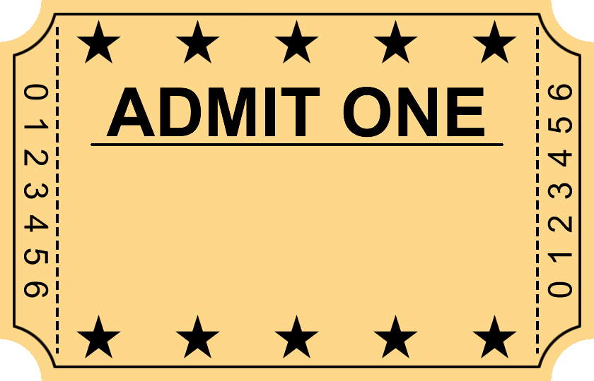 Admit One Movie Ticket Template Luxury Entry Ticket Clipart Clipground