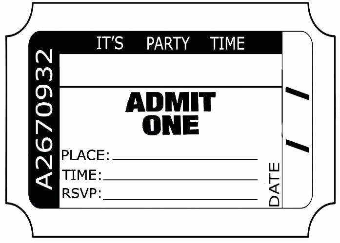 Admit One Movie Ticket Template Luxury Movie Ticket Birthday Party Invitations – Shukyakumaster