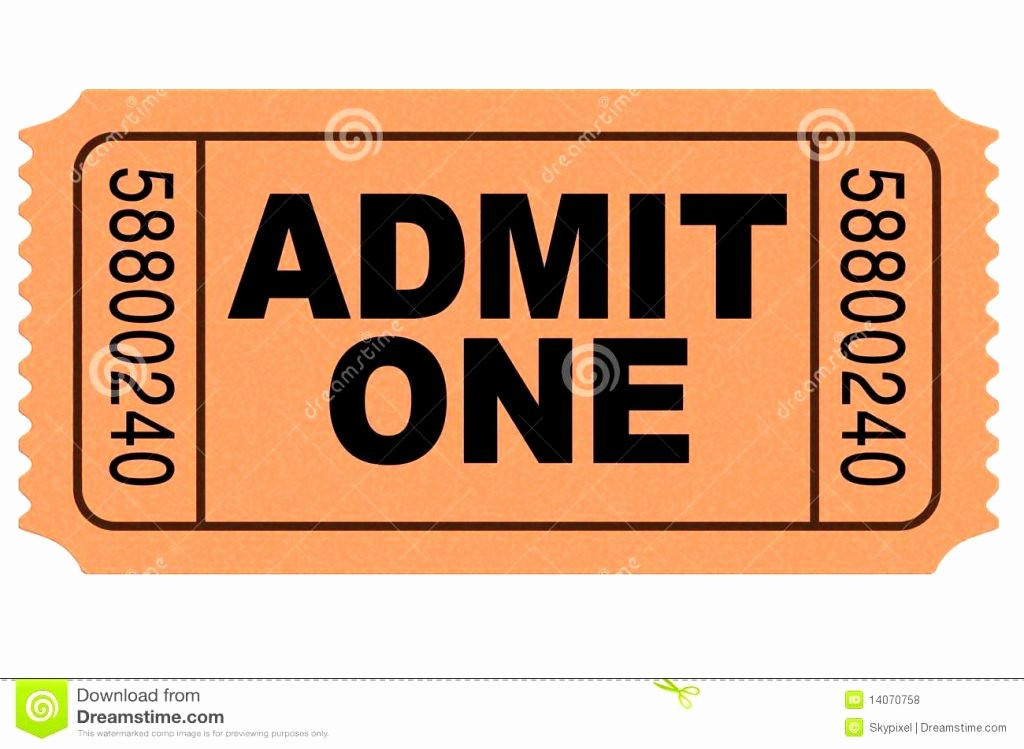 Admit One Movie Ticket Template New Admit E Ticket Template