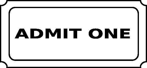 Admit One Movie Ticket Template New Free Printable Admit E Ticket Template Clipart Best