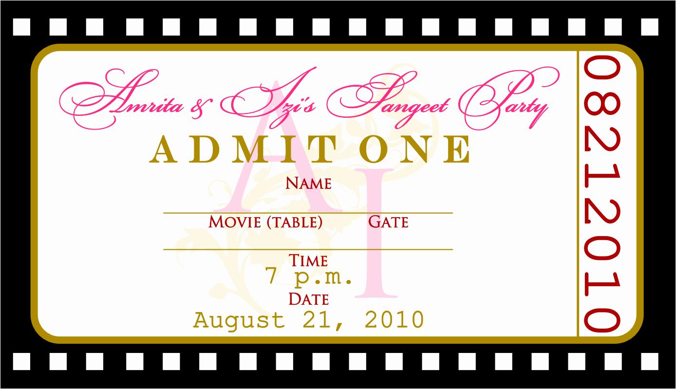 Admit One Ticket Invitation Template Elegant 8 Best Free Printable Ticket Invitations