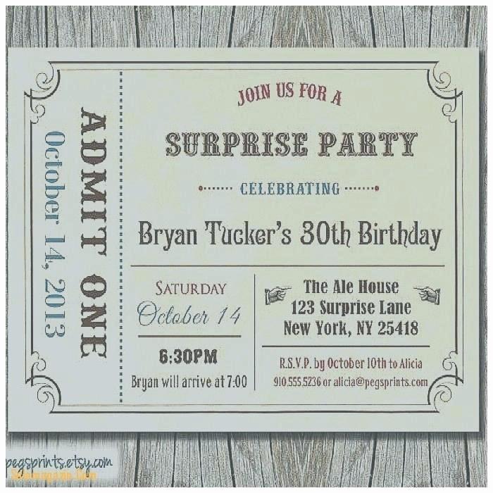 Admit One Ticket Invitation Template Fresh Admit E Party Invitations Free Birthday Invitation