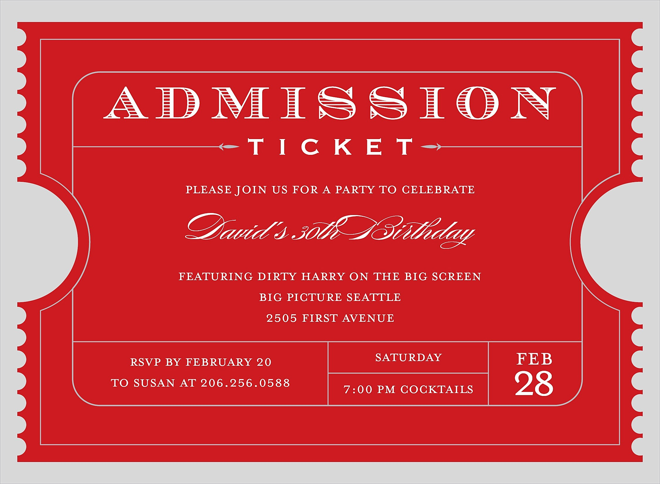 Admit One Ticket Invitation Template Fresh Printable Ticket Invitations Portablegasgrillweber