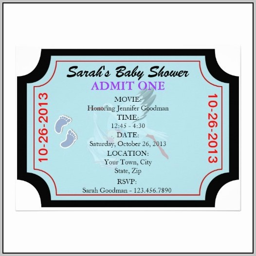 Admit One Ticket Invitation Template Lovely Admit E Ticket Template Word Template Resume