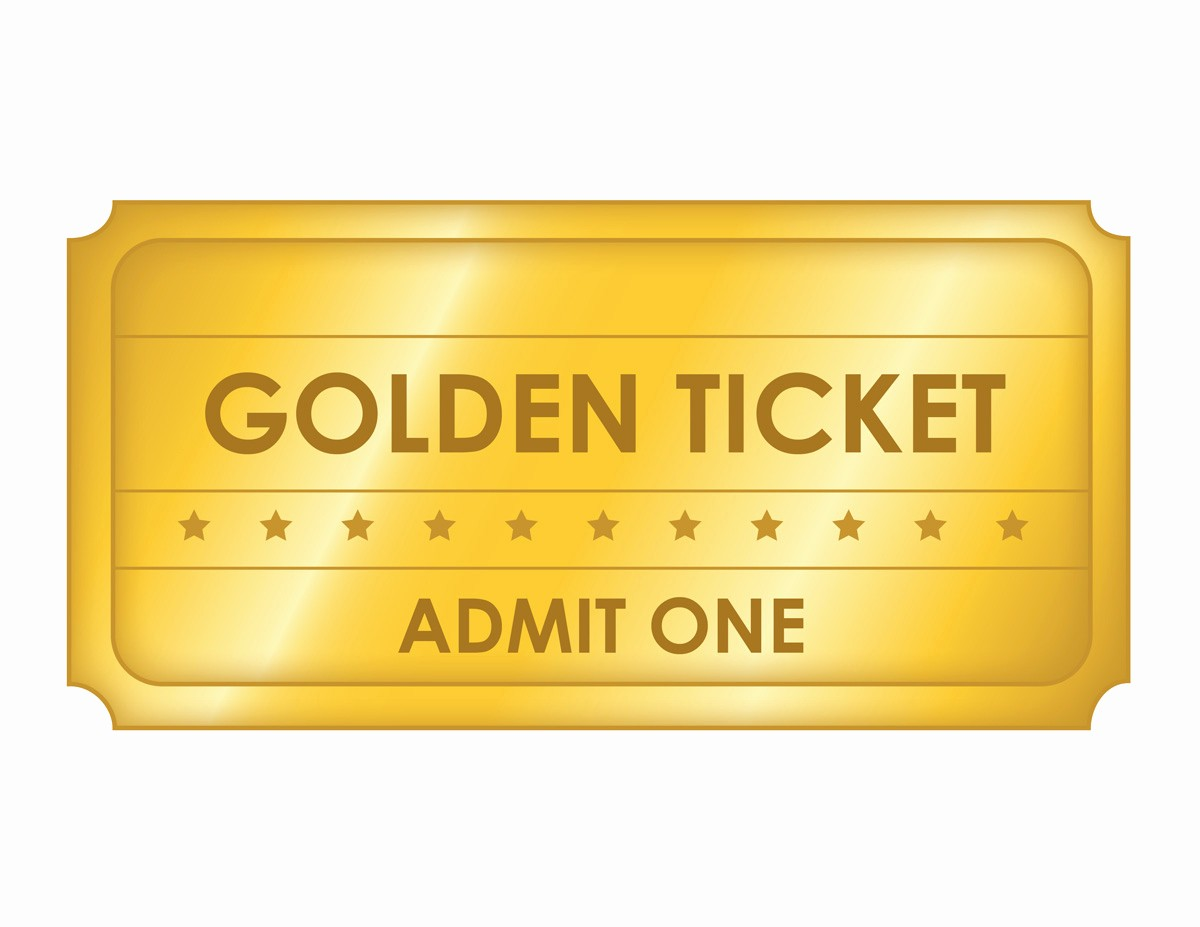 Admit One Ticket Invitation Template Luxury Free Printable Golden Ticket Templates