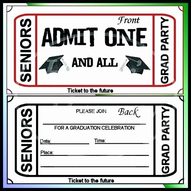 Admit One Ticket Invitation Template Unique E Party Invitations Free Birthday