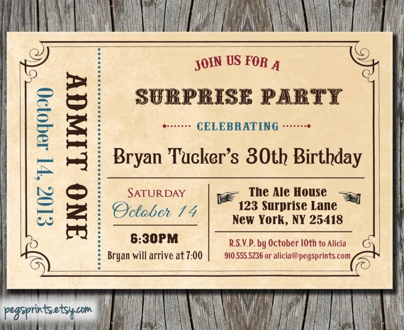 Admit One Ticket Template Printable Awesome 6 Best Of Free Printable Admit E Invitations