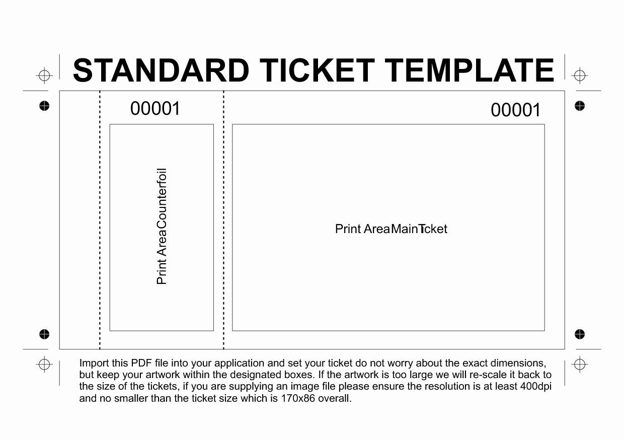 Admit One Ticket Template Printable Awesome Dinner Ticket Templates