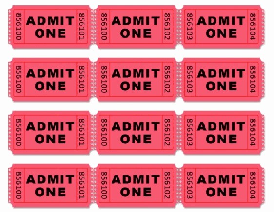 Admit One Ticket Template Printable Best Of Movie themed Birthday Party Driven by Decor